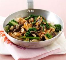 mushrooms and chicken with black bean sauce